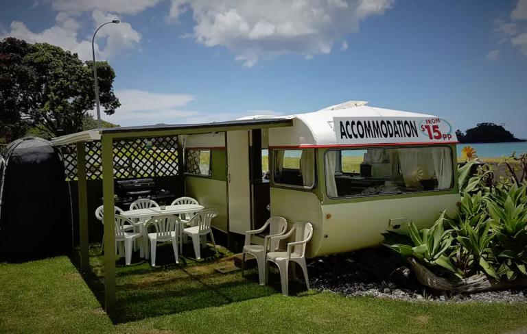 Oakura Beach Front Caravan 2
