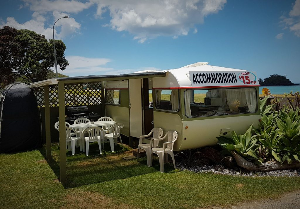 Caravan solid awning