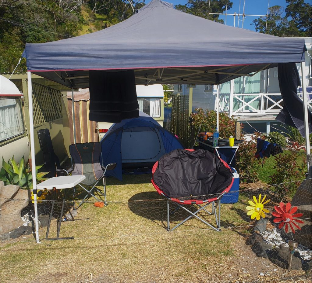 Front tent site