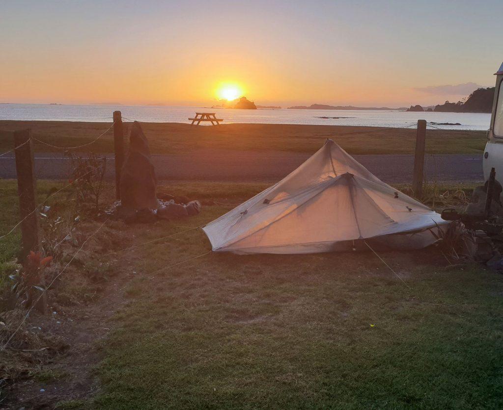 front tentsite with tent-good
